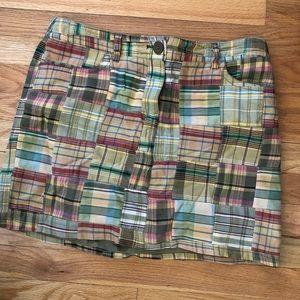 Loft Madras Plaid Mini Skirt size 10